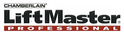 Image of Liftmaster professional garage door openers logo.
