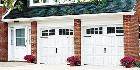 Picture Of House With Garage Door Model 9600 Made By Wayne Dalton.